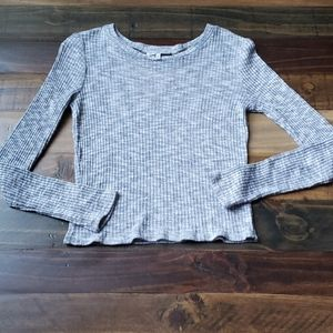 Charlotte  Russe Ribbed Knit Long sleeve